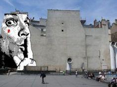 """""""CHUUUTTT !!! by Jef Aérosol"""", Place Stravinski à Paris"""