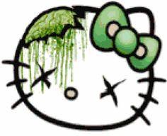 Zombie Hello Kitty - MyPhotoStitch.com Free Cross Stitch Pattern Blog