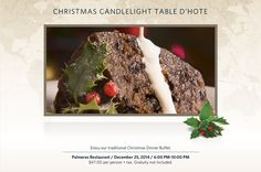 #Christmas Candlelight Table D' Hote 787.721.0303 ext. 6886