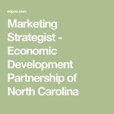 Marketing Strategist - Economic Development Partnership of North Carolina