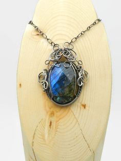 Labradorite and Sterling Silver Necklace - pinned by pin4etsy.com