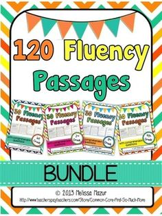 1ST, 2ND, 3RD, 4TH GRADE BUNDLE - 90 READING FLUENCY AND COMPREHENSION PASSAGES - TeachersPayTeachers.com