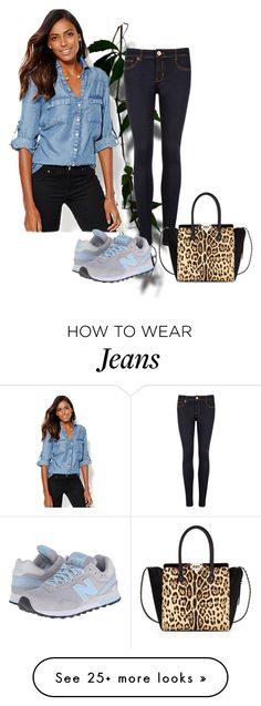 """""""Jeans SC"""" by sowana3 on Polyvore featuring Ted Baker, New York & Company, New Balance Classics and Valentino"""