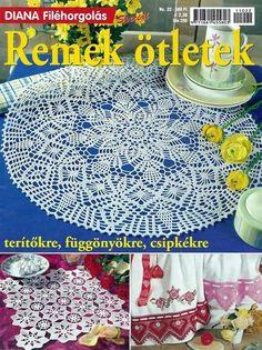 "Photo from album ""Diana filehorgolas Especial 22 Remek otletek"" on Yandex. Crochet Magazine, Crochet Books, Yandex, Beach Mat, Magazines, Outdoor Blanket, Album, Knitting And Crocheting, Tricot"
