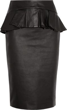 Alexander McQueen Leather Peplum Skirt ♥✤ | Keep the Glamour | BeStayBeautiful