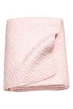 Prošívaný přehoz na postel - Světle růžová - HOME | H&M CZ 1