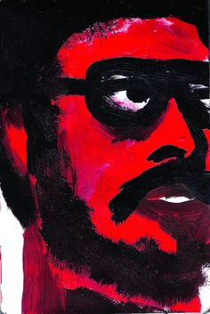 Red Face Illustration - Iain Scott Walker