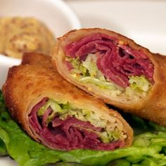 corned beef and cabbage egg rolls.  Had these last St.  Patrick's day---so good!
