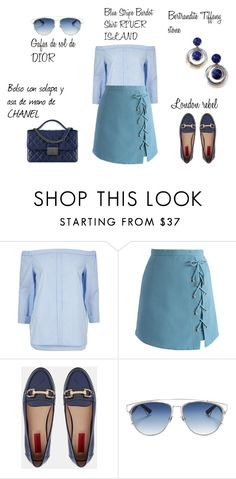 """look del dia : sunday"" by aliciagorostiza ❤ liked on Polyvore featuring River Island, Chicwish, London Rebel and Christian Dior"