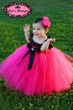 Artículos similares a Sizes - Choose Color: Princess Empire Waist Tutu Dress with Matching Headband or Bow en Etsy