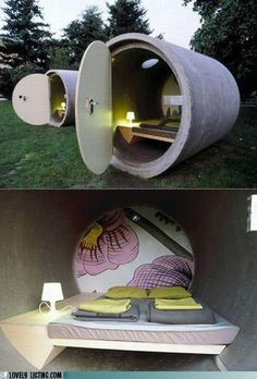 """I love the idea - guest house? Could this work for a storm shelter???Would it be cheaper than purchasing a """"real"""" shelter??"""