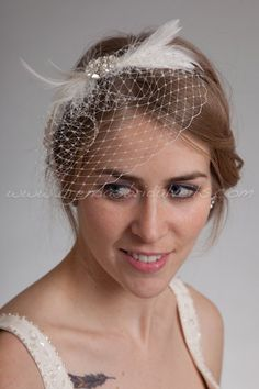 I am going to add netting to my headband just like this to make a mini veil!
