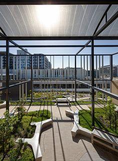 Rooftop garden. Pergola framed. 07_FSHDC_PeterBennetts « Landscape Architecture Works | Landezine