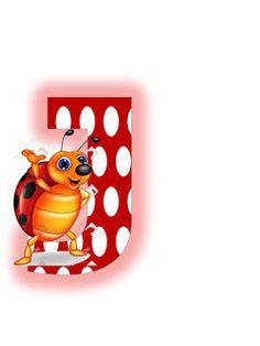 S.T.R.U.M.F.: Litere mari si cifre buburuze Ladybug Picnic, Alphabet, Illustrations And Posters, Miraculous Ladybug, Smurfs, Pikachu, Initials, Insects, Ladybugs