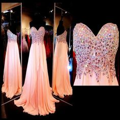 Sheeth Beads Bodice And Chiffon Celebrity Prom Dresses Pst0161 on Luulla