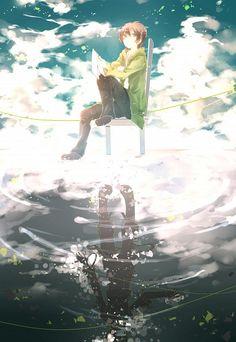 Tags: Anime, Chair, Reflection, Sitting On Chair, Kagerou Project, Kokonose Haruka, Shuuumatsu