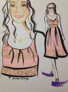 Illustration by Susan Chung for my sister Amy Aldrich, Instagram @susanchungfashion