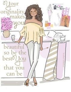 Quotes for Women. Originality Makes You Beautiful. Heather Stillufsen. Art for by RoseHillDesignStudio