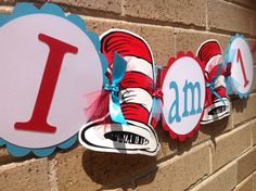 Cat in the Hat Inspired Highchair Banner by inspirationsdesign, $13.50