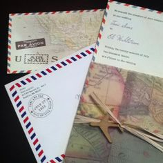 travel theme but not over the top.  Love the international mail trim.