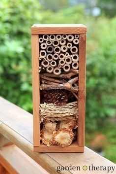 Build a Bug Hotel - Garden Therapy. Bugs are a necessary part of the garden. A project like this can help the kids appreciate them.