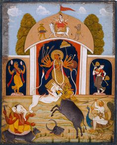 A Shrine to Durga. Bengal, 1775. Chester Beatty Library, Dublin.