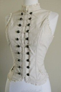 Gail Carriger - All About Steampunk Fashion ( Alter the breast area .. open it up while keeping the neck and stomach areas)
