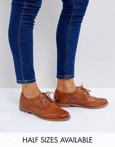 Search for asos mojito at ASOS. Shop from over styles, including asos mojito. Discover the latest women's and men's fashion online Brogues Outfit, Tan Brogues, Oxford Shoes Outfit, Women Oxford Shoes, Leather Brogues, Leather Shoes, Dress Shoes, Women's Oxfords, Suede Shoes