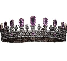 Amethyst And Diamond Tiara