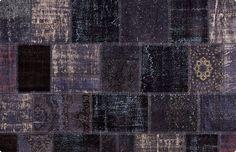 Vintage Patchwork Teppich - mozaiik Unikat Nr. 67TP