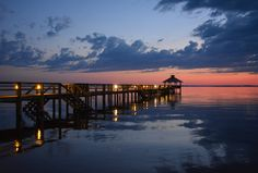Currituck Sound at sunset, Outer Banks, NC