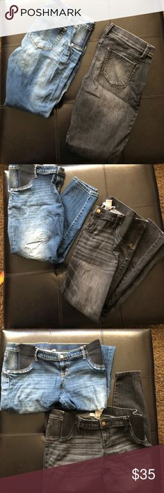 A pair of maternity jeans!! A pair of maternity jeans! Extremely comfortable and really cute on! Perfect way to look your best while staying comfortable during those super uncomfortable months! Liz Lange Jeans Skinny
