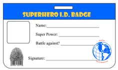 superhero party games superhero identity badge