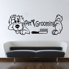 Wall Decals Dog Grooming Salon Decal Comb Scissors Vinyl Sticker Pet Shop Decor Ms274 by VinylDecals2U on Etsy https://www.etsy.com/listing/236577638/wall-decals-dog-grooming-salon-decal