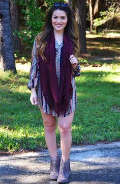 Click to shop - free shipping over $50!  Party in the Back Dress - Orange/Multi – Worn & Raised