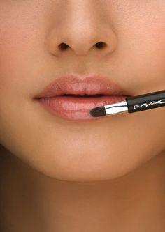Natural glossy lips