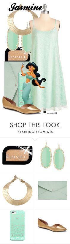 """""""Jasmine"""" by amarie104 ❤ liked on Polyvore featuring Rimmel, Kendra Scott, Kelly Wearstler, Danielle Nicole, Casetify, Disney and Vince Camuto"""