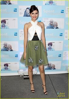d5728f3e9ac Victoria Justice in Sachin + Babi paired with Steve Madden sandals and  Jacob   Co. jewels attends attends the premiere of the documentary