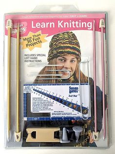 Susan Bates Learn Knitting Kit 30 Fun Projects New Sealed Package #CoatsClark