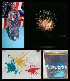 Fireworks aren't just for July -- check out these creative ideas of fun firework projects for kids -- change the colors and you can celebrate w/ fireworks for birthdays, back to school and other holidays!