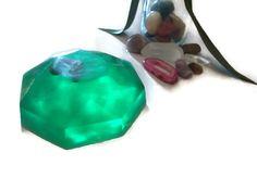 Crystal Bar Soap, Green Agate Gemstone Soap, Glycerin Soap, Aromatherapy Soap Beauty Bar, Crystal Healing Bar Soap