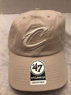 Cleveland Cavilers  47 Brand Ivory Clean Up Adjustable Back-strap Cap Hat  NEW   e1833d77f6ec