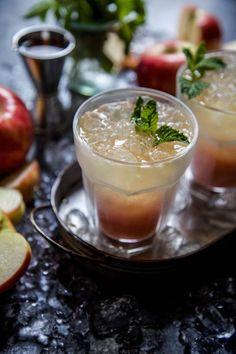 Ginger Cocktails, Fall Cocktails, Honeycrisp Apples, Thing 1, Ginger Beer, Cocktail Glass, Fresh Mint, Coolers