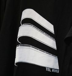 this is the Tel aviv design on a t-shirt. I think this image highlights the minimulism behnd the art movement. It has shape, line and form as cleaar elements