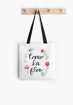 Pin for Later: 17 Back-to-School Products Any Cool College Girl Needs This Fall  Como La Flor Selena Quintanilla tote ($19)