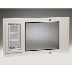 Smarthome.com: Patio Pacific 07PPC08 BW Thermo Sash IIIe Pet Door for 25in Sash Windows,