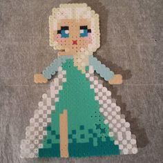 Princess Elsa Frozen perler beads by momop777