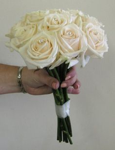 Cream Rose Bouquet,simple and gorgeous