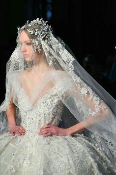 fashion elegance luxury beauty — runwayandbeauty: Zuhair Murad Spring 2016 H. Luxury Wedding Dress, Wedding Veils, Wedding Attire, Elegant Wedding, Zuhair Murad Dresses, Dress Vestidos, Bridal And Formal, Bridal Headpieces, Beautiful Gowns