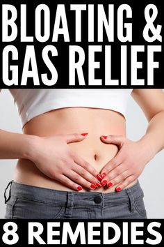 If you have a distended stomach and painful, smelly gas, this collection of gas and bloating remedies will help you get your symptoms under control fast! Stomach Pain And Bloating, Relieve Bloating, Ibs Bloating, Heartburn, What Helps With Bloating, How To Stop Bloating, Get Rid Of Bloated Stomach, Bloated Belly, Home Remedies